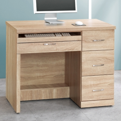 AS-艾薇橡木3.2尺電腦桌-96x54x78cm