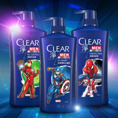 (Marvel聯名款)CLEAR 淨 男士去屑洗髮乳750Gx3 加贈洗髮露100ml