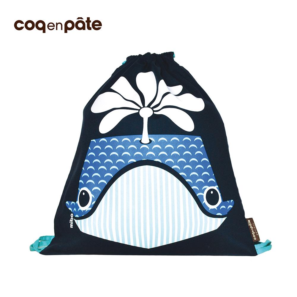 【COQENPATE】法國有機棉無毒環保布包 - 童趣輕鬆包- 鯨魚 @ Y!購物