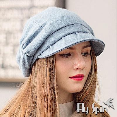 FLYSPIN 保暖復古畫家羊毛呢淑女貝雷南瓜冬帽