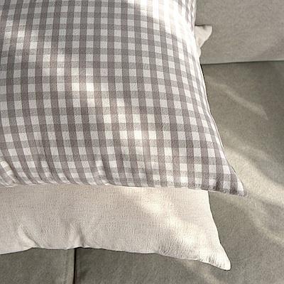 完美主義 水洗自然風45x45純棉靠枕套-2入組/韓國製/枕套/枕頭套/抱枕套(2色)