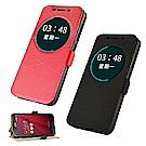 揚邑 ASUS Zenfone 2 Laser 6吋 金沙幾何線紋側立休眠磁扣皮套