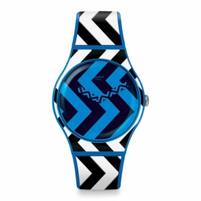 Swatch Bau 包浩斯系列手錶 BLUZAG 急轉彎 -41mm