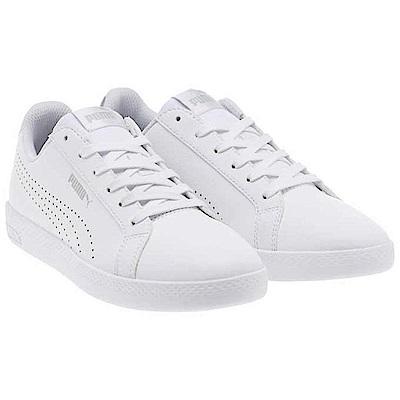PUMA-Smash Wns Perf Met女性復古網球鞋-白色
