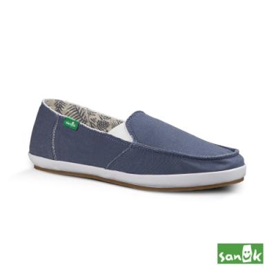 SANUK 女款 US5 內印花樹葉圖騰休閒鞋(藍色)
