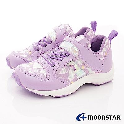 日本Carrot機能童鞋 2E貓咪印花款TW2139紫(中小童段)