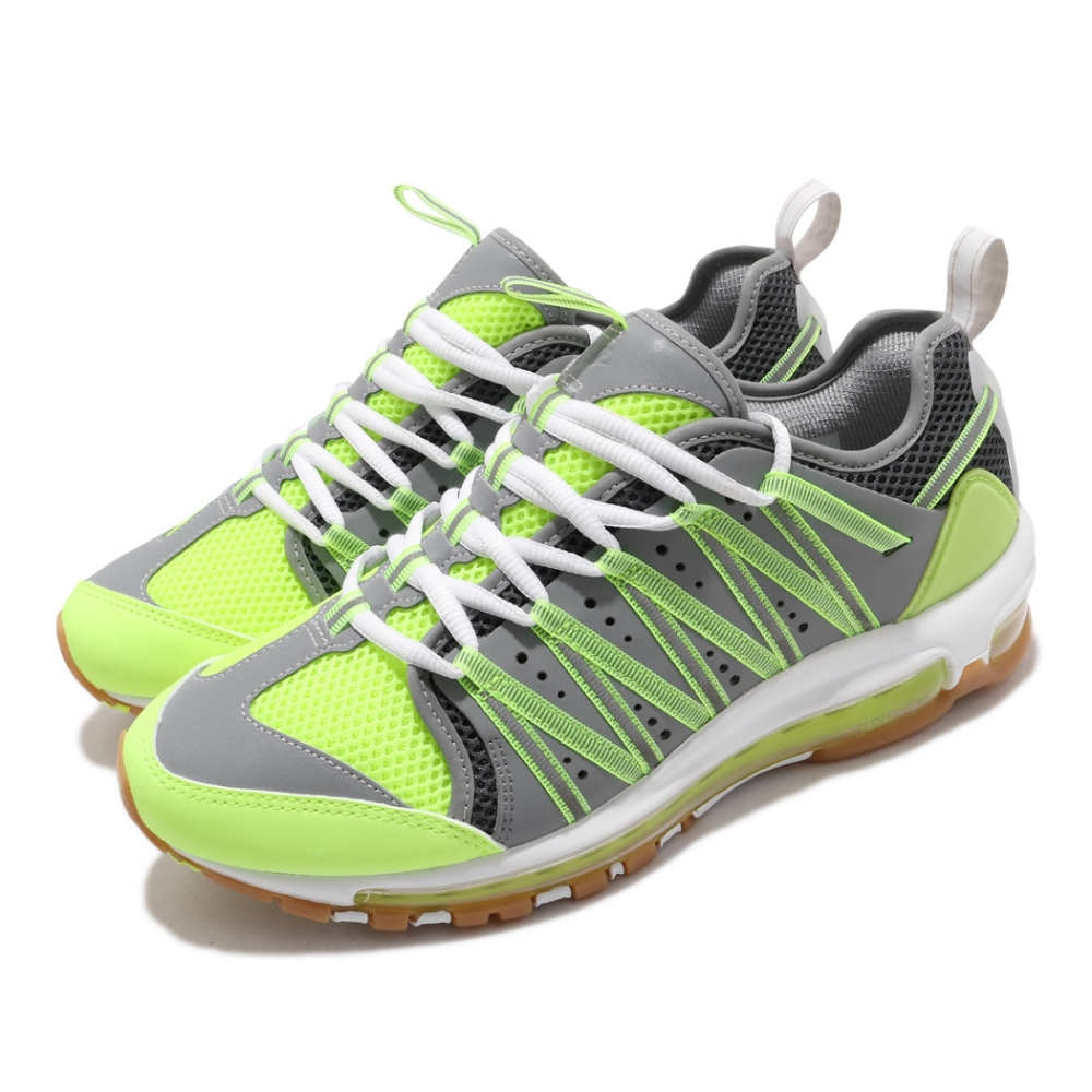 Nike 休閒鞋 Air Max 97 Haven CLOT 聯名 陳冠希 男鞋 海外限定 氣墊 避震 反光 球鞋 黃 灰 AO2134700