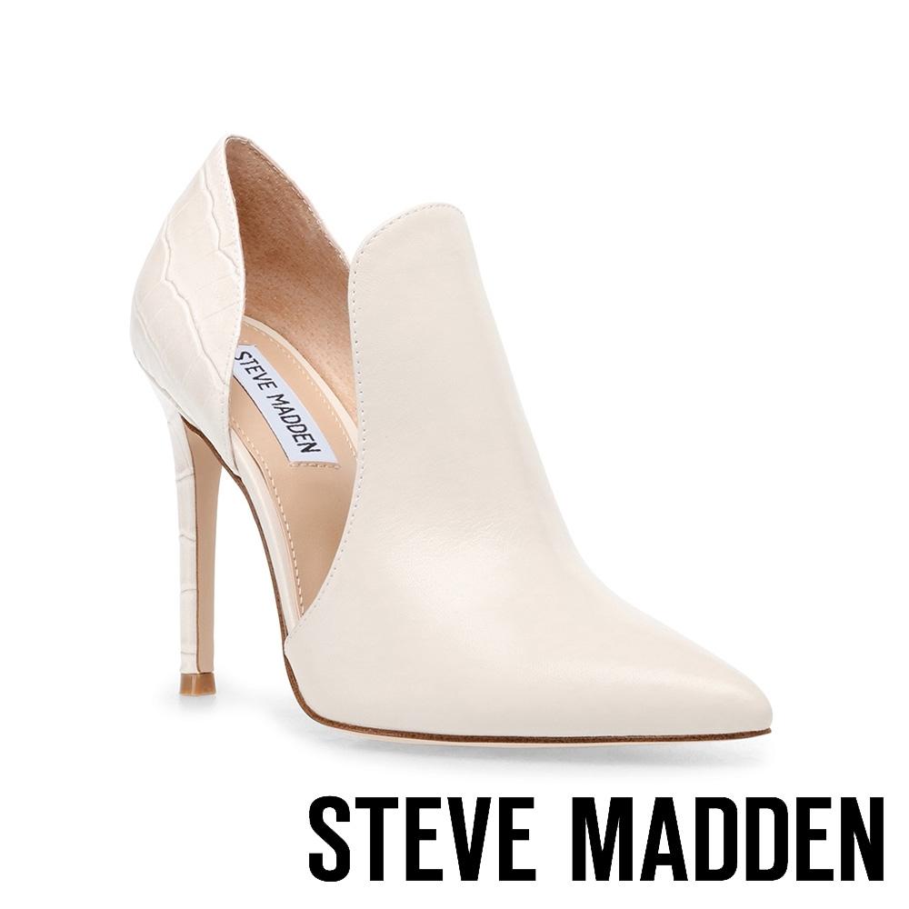 STEVE MADDEN-EMBRY 迷人性感拼接簍空高跟女鞋-米杏色