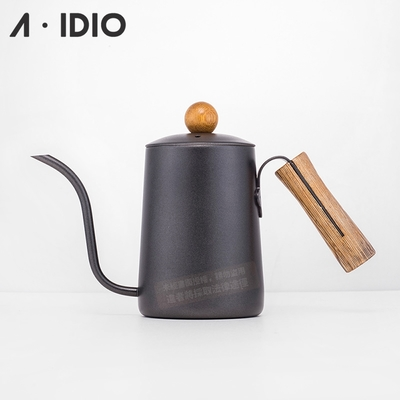 A-IDIO 黑金木手沖細口壺(600ml)