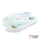 TTSNAP拖鞋-MIT青春陽光可愛海灘涼拖 淺綠/咖