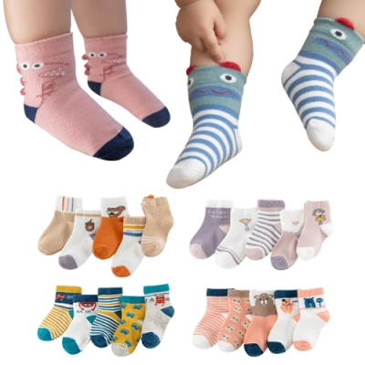 JoyNa-15雙入 童襪短襪地板襪兒童立體卡通襪