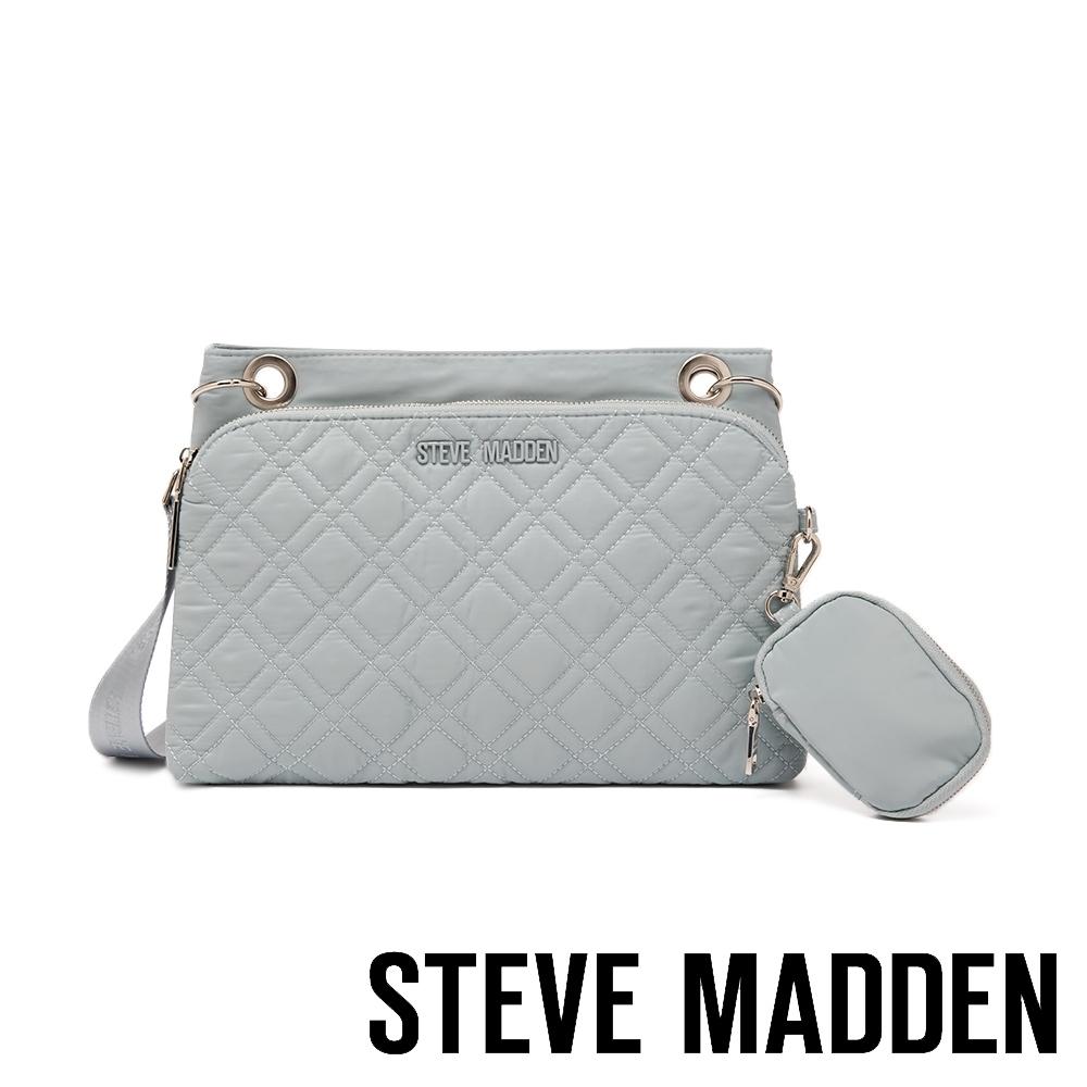 STEVE MADDEN-BJAVA 菱格紋側背子母包-BABY藍