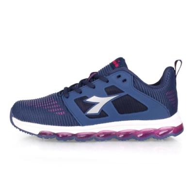 DIADORA 女 輕量慢跑鞋 深藍紫淺灰