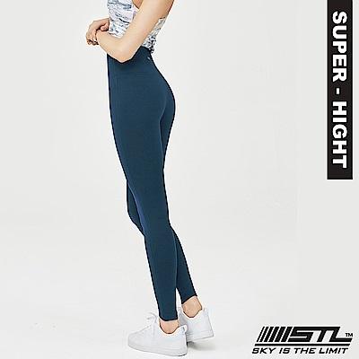 STL Leggings Pure 9 韓 女 超高腰運動拉提褲 純粹海藍