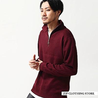 半拉鍊針織毛衣(8色) ZIP日本男裝