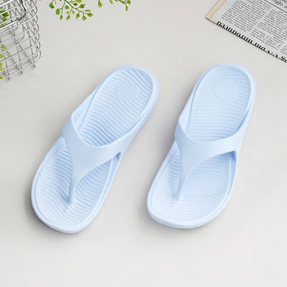 333家居鞋館 輕鬆穿搭夾腳拖鞋-水藍