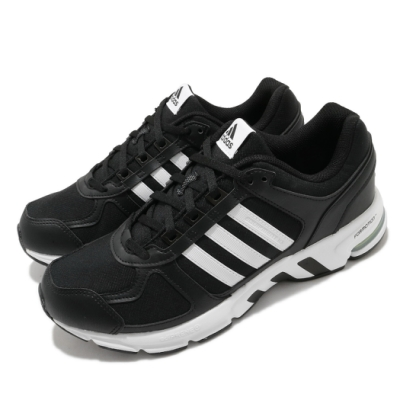 adidas 慢跑鞋 Equipment 10 U 男鞋 愛迪達 路跑 緩震 透氣 球鞋穿搭 黑 白 FW9995