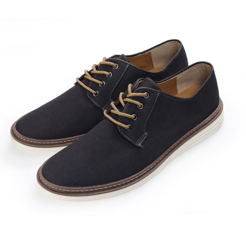 BuyGlasses 麂皮純色素面休閒鞋-黑
