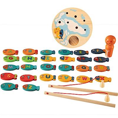 經典木玩 木製磁性釣魚玩具(兒童教育玩具)(36m )