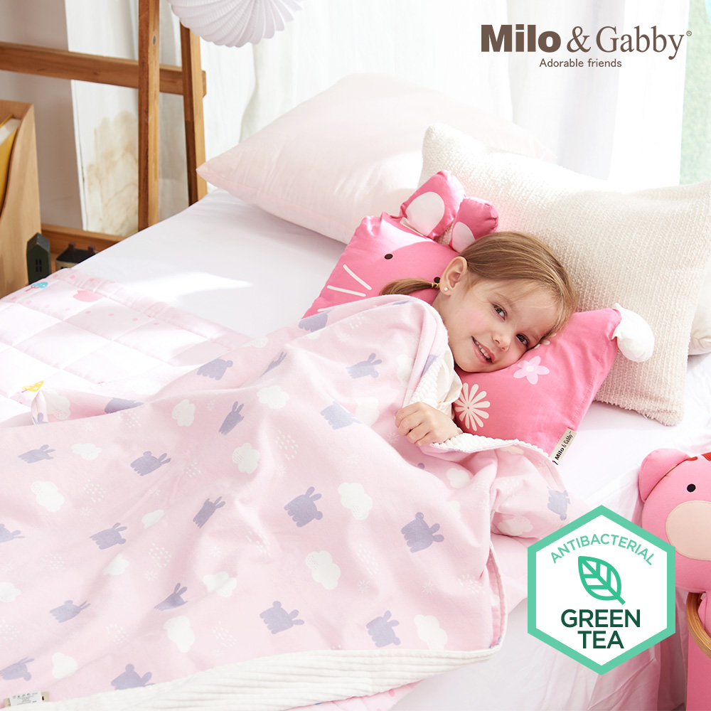 Milo& & Gabby 動物好朋友-雙面寶寶棉蓋毯(LOLA影子)