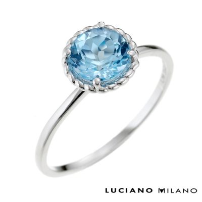 LUCIANO MILANO 春色舞彩純銀戒指