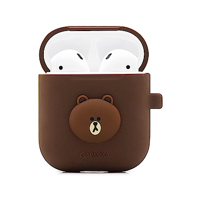 GARMMA LINE FRIENDS AirPods 藍芽耳機盒保護套 熊大