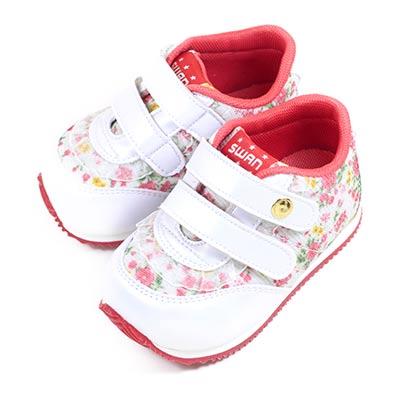 Swan天鵝童鞋-蕾絲碎花小童機能學步鞋 1565-白