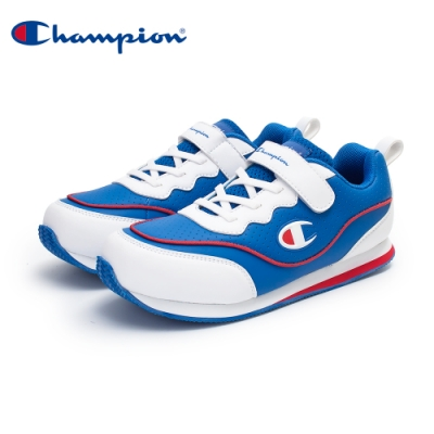 【Champion】SOUND WAVE 復古慢跑鞋 大童鞋-藍/白/紅(KFLS-0384-60)