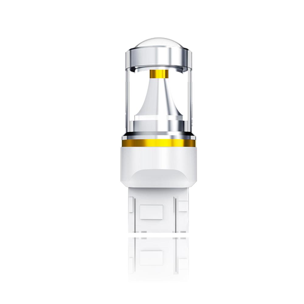 【車的LED】勁亮T20 雙芯 6LED 魚眼燈 30w 白光(單入組)