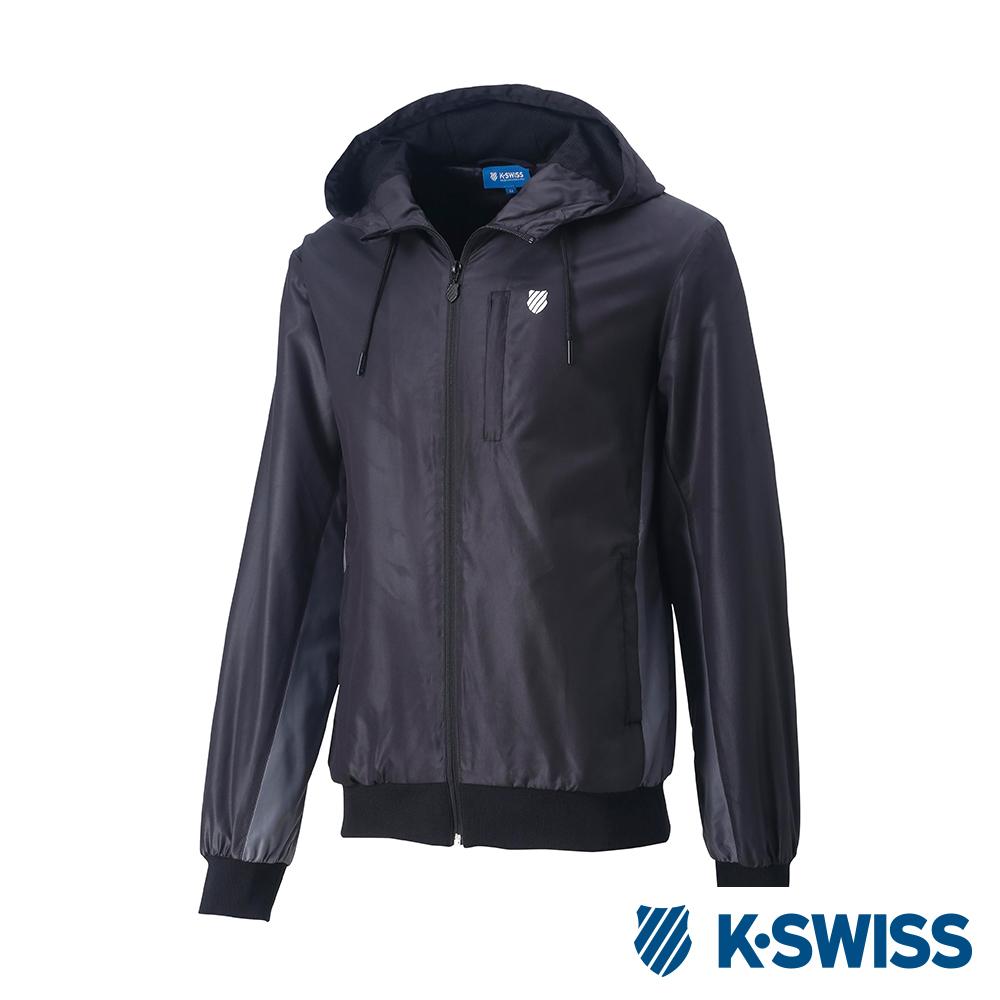 K-SWISS Contrast Side Panel 風衣外套-男-黑