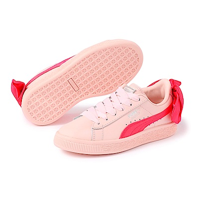 PUMA-BasketBowACPS孩童鞋-蜜桃紅