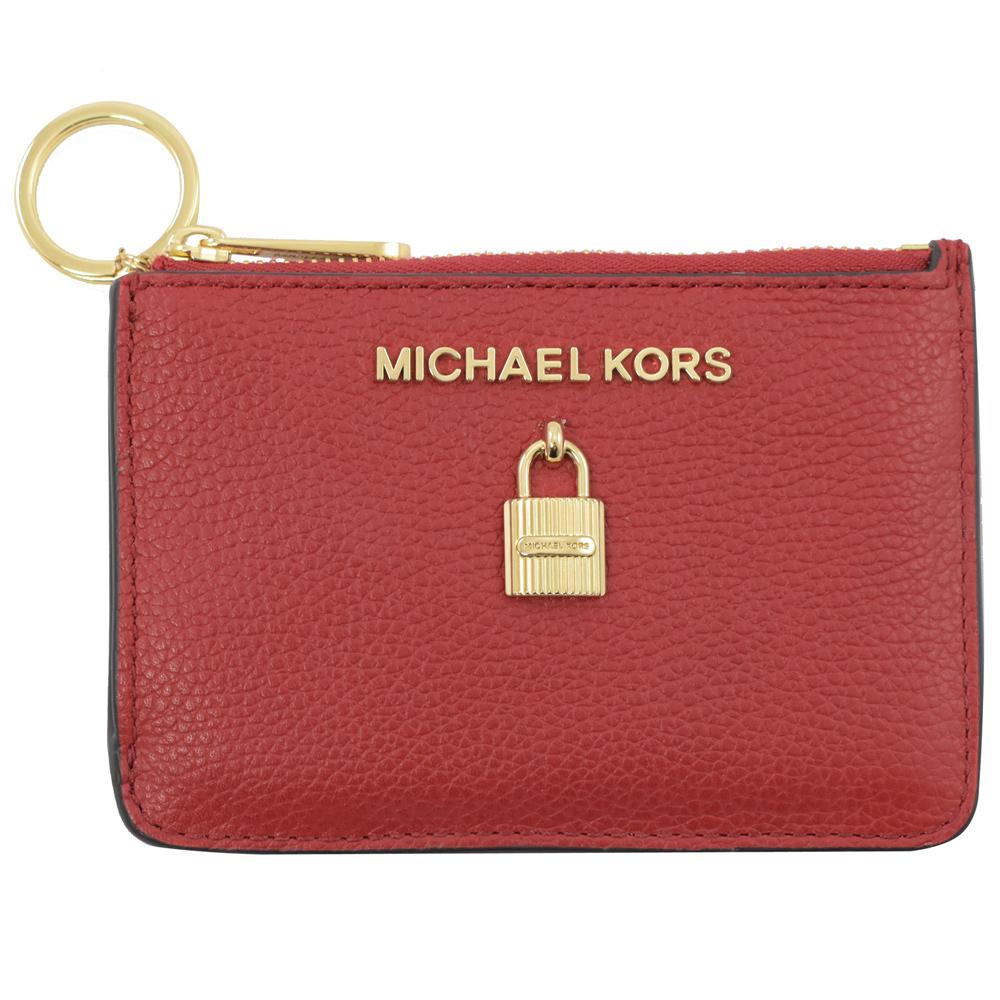 MICHAEL KORS ADELE 鎖頭造型鑰匙零錢包(紅)