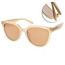 CARIN太陽眼鏡 韓系優雅微貓眼款/象牙-棕鏡片 # KIRSTEN C2