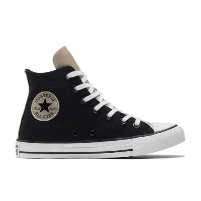 CONVERSE CTAS HI 高筒 基本款 百搭 兩色拼接 休閒鞋 女 黑 570286C