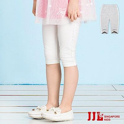 JJLKIDS 側蕾絲點綴純棉內搭六分褲(2色)