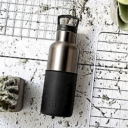 美國HYDY時尚保溫瓶_CinCin Déco油墨黑-鈦灰瓶 小容量 480ml