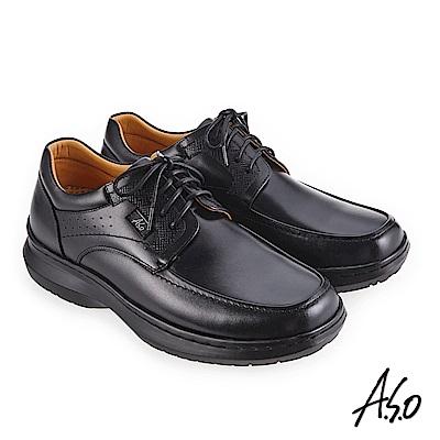 A.S.O 超能耐二代 舒適耐磨休閒鞋 黑