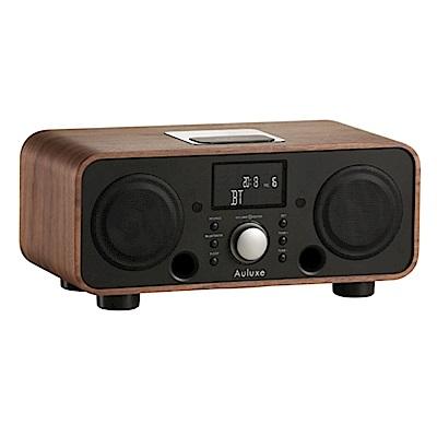 Auluxe 歐樂絲 New Breeze 木質 無線藍牙音響 (胡桃黑色)