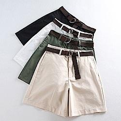 初色  百搭顯瘦寬鬆短褲-共4色-(M-2XL可選)