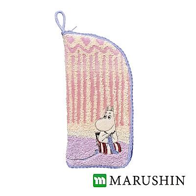 日本丸真Moomin速吸雨傘水瓶拉鍊收納套-嚕嚕米媽媽織毛線