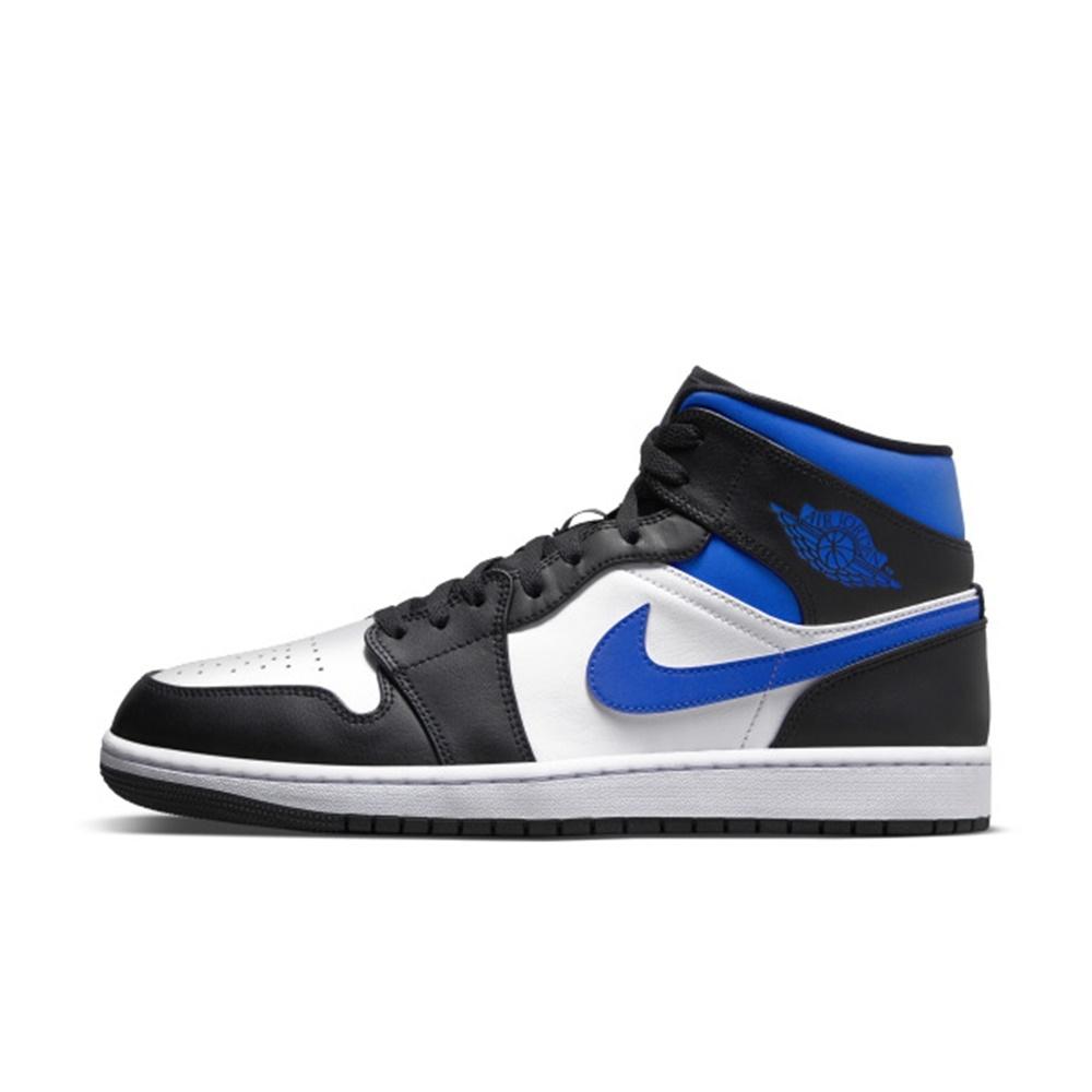 NIKE Air Jordan 1 Mid  男籃球鞋-黑藍-554724140