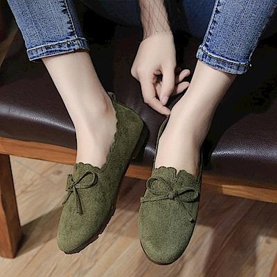 韓國KW美鞋館 獨賣款氣質性感平底鞋-綠色