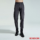 BOBSON 男款貼袋深灰直筒褲