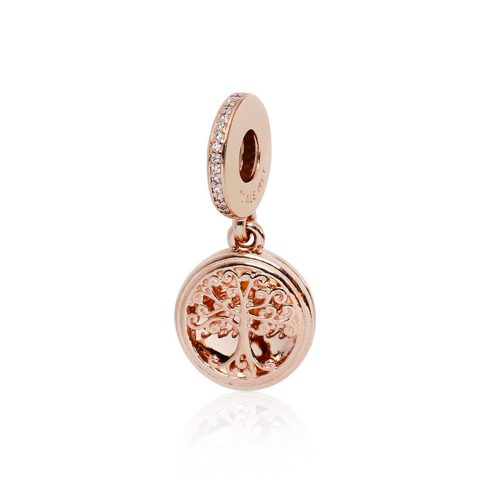 Pandora 潘朵拉 家族之源玫瑰金 垂墜純銀墜飾