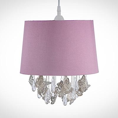 bnatura 蝴蝶透明壓克力珠掛鏈粉紅吊燈 BNL00010