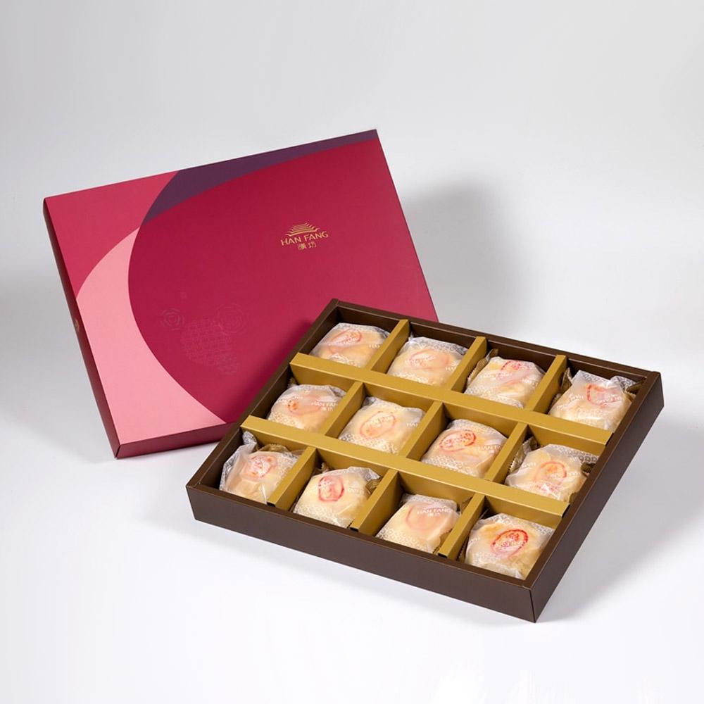 【漢坊月餅/糕餅】金饌 純綠豆椪12入禮盒(蛋奶素)共2盒