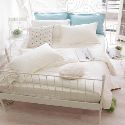 OLIVIA TWINS 全米白 加大雙人床包被套四件組  MOC莫代爾棉 台灣製