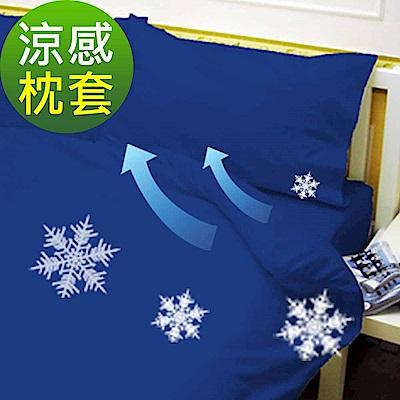 La Veda 瞬涼隔熱涼感枕套2入-伯爵藍