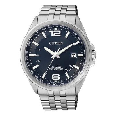 CITIZEN Eco-Drive 世紀經典紳士萬年曆男錶(CB0011-77L)-藍