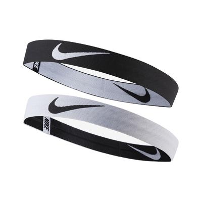 Nike 髮帶 Headbands With Pouch 男女 運動 跑步 健身 重訓 瑜珈 穿搭單品 黑 白 N1001596036OS